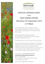Official Opening Event of Parish Centre
